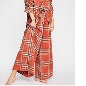 Free People Plaid Pajama Pants